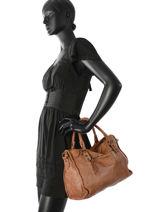 Shopping Bag Classic Leather Basilic pepper Brown classic BCLA02-vue-porte