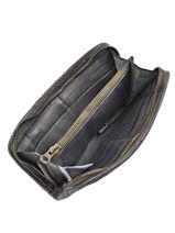 Wallet Leather Basilic pepper Gray cow BCOW91-vue-porte