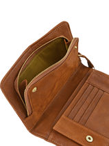 Continental Wallet Leather Nat et nin Brown vintage TALIA-vue-porte