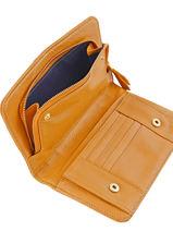Continental Wallet Leather Nat et nin Yellow vintage TALIA-vue-porte