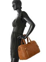 Sac Shopping Panama Cuir Nat et nin Marron vintage PANAMA-vue-porte