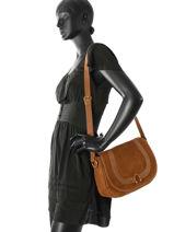 Crossbody Bag Nat et nin Brown vintage CLAUDIA-vue-porte