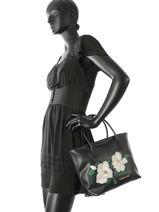 Shopping Bag Magnolia Lancaster Black magnolia 517-22-vue-porte