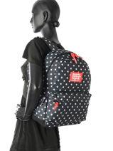 Sac A Dos 1 Compartiment Superdry Bleu backpack woomen G91001NP-vue-porte