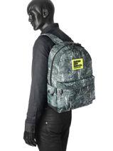 Sac à Dos 1 Compartiment Superdry Noir backpack men M91002NP-vue-porte