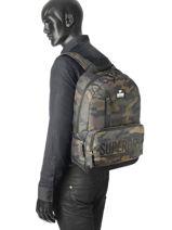 Sac A Dos 1 Compartiment Superdry Noir backpack men M91003JP-vue-porte