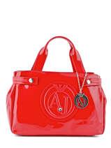 Shopping Bag Vernice Lucida Patent Armani jeans Red vernice lucida 529B-55