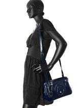 Sac Bandoulière Vernice Lucida Verni Armani jeans Bleu vernice lucida 529C-55-vue-porte