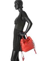 Purse Kyo Leather Etrier Red kyo EKY604-vue-porte