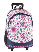 Wheeled Backpack 2 Compartments Rip curl White mandala LBPND4