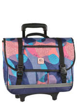 Wheeled Schoolbag 2 Compartments Rip curl Blue camo LBPMQ4