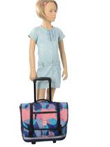 Wheeled Schoolbag 2 Compartments Rip curl Blue camo LBPMQ4-vue-porte