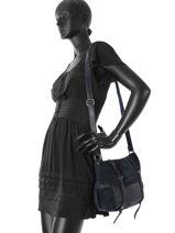 Sac Bandouliere Vintage Cuir Mila louise Bleu vintage 3112VSB-vue-porte