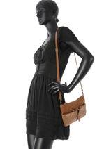 Crossbody Bag Mila louise Brown vintage 3005SEC-vue-porte