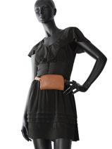 Longchamp Le foulonné Clutch Brown-vue-porte