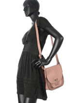 Crossbody Bag Caleche Leather Etrier Pink caleche ECAL005B-vue-porte
