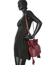Sac Bourse Paris Cuir Etrier Rouge paris EPAR10-vue-porte