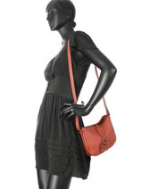 Crossbody Bag Tradition Leather Etrier Red tradition EHER003-vue-porte