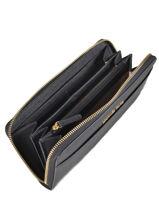Wallet Leather Michael kors Blue money pieces T7GTVZ3L-vue-porte