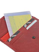 Wallet Leather Etrier Red blanco 600054-vue-porte