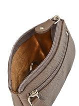Purse Leather Crinkles Brown 14036-vue-porte