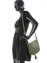 Hobo Bag  Leather Milano Green 145-vue-porte