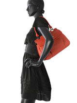 Longchamp Besaces Rouge-vue-porte