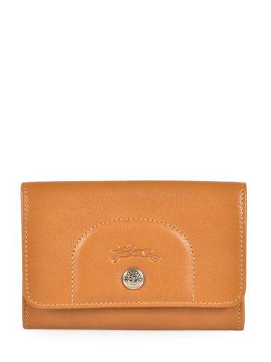 Longchamp Le pliage cuir Porte monnaie Beige