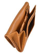 Longchamp Le pliage cuir Coin purse Beige-vue-porte