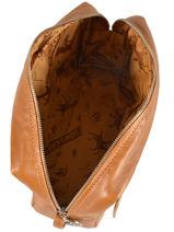 Longchamp Le pliage cuir Clutch Beige-vue-porte