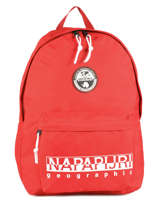 Backpack 1 Compartment Napapijri Red geographic NOYGX8