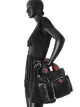 Crossbody Bag Sonia rykiel Black forever nylon 2279-39-vue-porte
