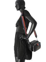 Sac Bandouliere Forever Nylon Sonia rykiel Noir forever nylon 2278-39-vue-porte