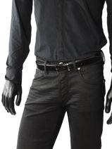 Ceinture Réversible Ajustable Azzaro Noir belts Z1391376-vue-porte