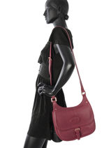 Longchamp Mystery Sac porté travers Rouge-vue-porte