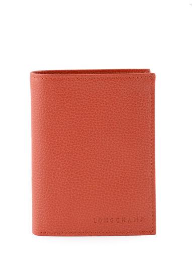 Longchamp Le foulonné Portefeuille Rouge