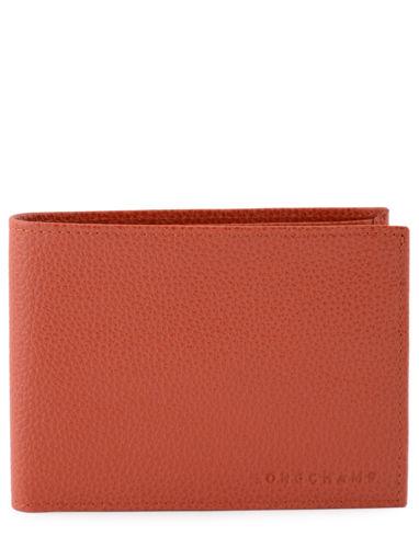 Longchamp Le foulonné Porte billets/cartes Rouge
