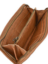 Wallet Leather Basilic pepper Brown studs BSTU91-vue-porte
