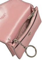 Card Holder Leather Coach Pink wallet 55749-vue-porte