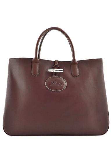 Longchamp Roseau héritage Sac porté main Marron