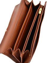 Longchamp Portefeuille Marron-vue-porte