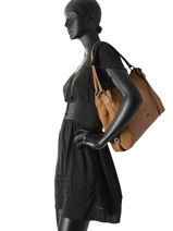 Shoulder Bag Coach Brown edie 59500-vue-porte