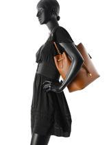 Sac Porte Epaule Dryden Leather Lauren ralph lauren Brown dryden 31617297-vue-porte
