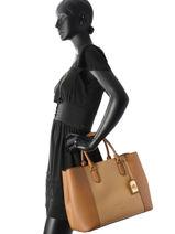 Shopping Bag A4 Dryden Leather Lauren ralph lauren Brown dryden 31654564-vue-porte