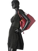 Shoulder Bag Classic Line Leather La pomme de loveley Red classic line B15-13EX-vue-porte