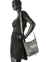 Shoulder Bag Soft Vintage Nova Leather Lancaster Gray soft vintage nova 5761-vue-porte