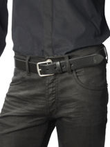 Belt Polo ralph lauren Black belt 5069588-vue-porte