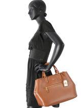 Top Handle New Bury Leather Lauren ralph lauren Brown new bury 31656175-vue-porte