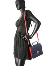 Sac Bandouliere Th Heritage Tote Tommy hilfiger Bleu th heritage tote AW04301-vue-porte
