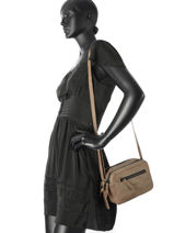 Sac Bandoulière Zip It Cuir Cowboysbag Marron zip it 1932-vue-porte